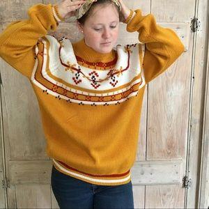 Vintage Sweater Mock Neck Sz XL